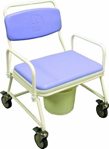 Silla de ruedas para personas con sobrepeso, con tapa de inodoro, NRS Healthcare