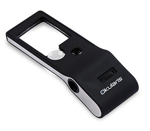 Okularis® 55x Multifunction Pocket Microscope and Magnifier with LED and UV-Illumination