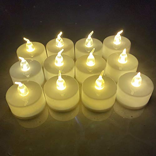 24pcs Flameless LED Candle Light Battery Operated LED Flickering Tea Lights Led Tea Lights Candles for Party Wedding Birthday Festivals Dinning Decor