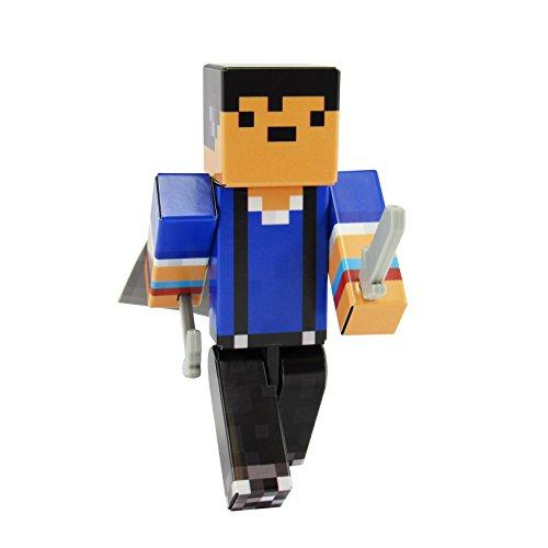 EnderToys Cool Boy Action Figure Toy, 4 Inch Custom Series Figurines