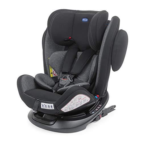 Chicco Unico Plus Silla Coche Reclinable Bebés de 0-36 kg, Grupo 0+/1/2/3, Niños de 0 a 12 Años, ISOFIX, Fácil Instalar, Reposacabezas Ajustable, Protección Lateral, Reductor Bebé, Color Gris (Ombra)