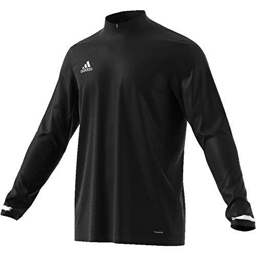 Adidas T19 1/4 LS M Camiseta de Manga Larga, Hombre, Black/White