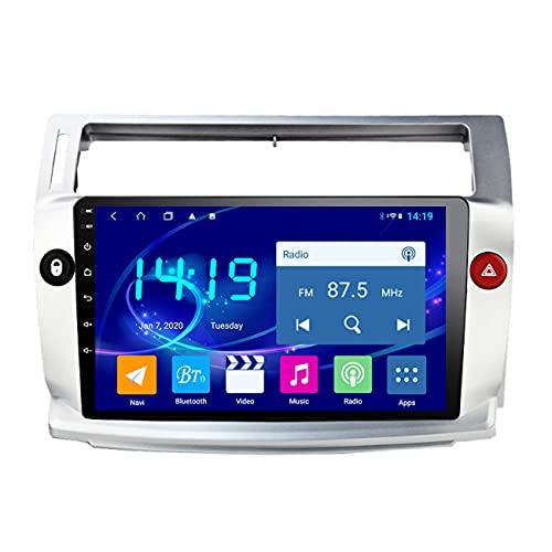 Radio de coche, 4G + 64G 2.5D + IPS Android 10 para Citroen C4 C-Triomphe C-Quatre 2004-2009, radio estéreo con dvd para coche, navegación GPS multimedia, enlace espejo