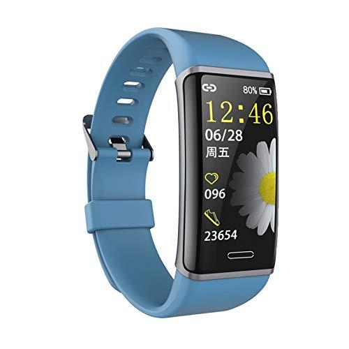 XXY Pulsera Inteligente Pulsera Aptitud Rastreador De Fitness Ritmo Cardíaco Reloj De Monitor De Salud Banda De Ritmo Cardíaco A Prueba De Agua Pulsera Inteligente (Color : Blue)