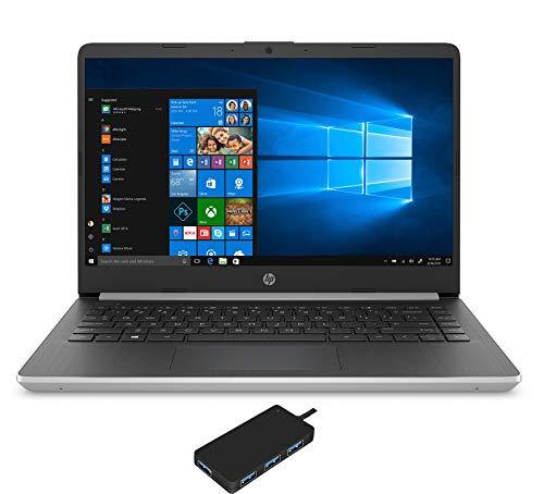 "HP 14-dq1037wm Laptop (Intel i3-1005G1 2-Core, 4GB RAM, 128GB m.2 SATA SSD, Intel UHD Graphics, 14"" HD (1366x768), WiFi, Bluetooth, Webcam, 2xUSB 3.1, 1xHDMI, Win 10 Home in S-Mode) with USB3.0 Hub"