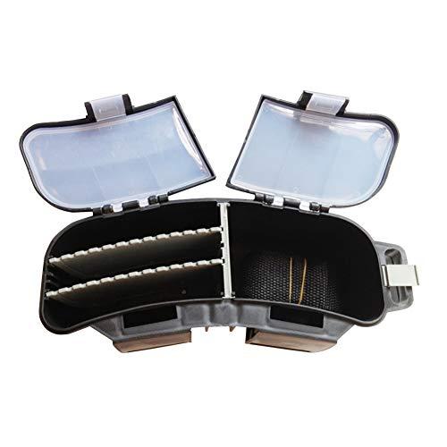 Cintura portátil de la Pesca con Mosca Cajas Multifuncional Cebo de Pesca portátil de almacenaje trastos de la Cintura del Portador Caja giratoria señuelo Caja almacenaje cinturón Negro 1PC