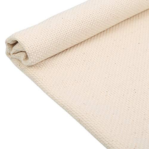 Queenromen Kreuzstich Stoff, 67 * 50cm Kreuzstich Starter Weiß Baumwollstoff Stickerei Baumwoll für die Herstellung von Kleidungsstücken Basteln Stickerei Dekoration und Tischdecke