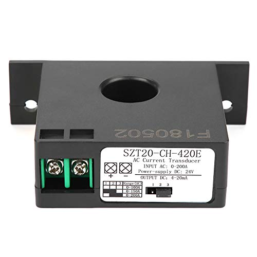 Sensor de transmisor de corriente CA, bajo consumo de energía 0-200A SZT20-CH-420E...
