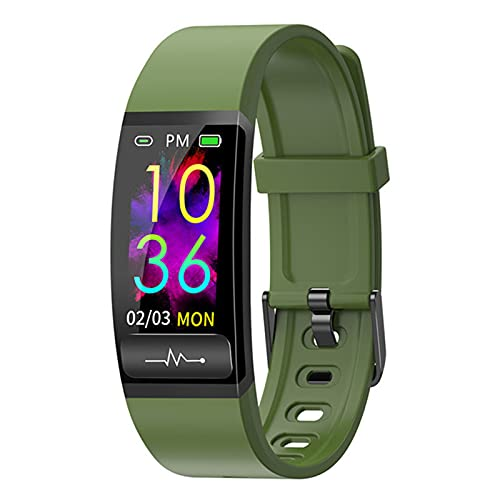 ZYY Adecuado para Android IOSM8 Pulsera Inteligente, Monitor de Temperatura Corporal, Ritmo cardíaco y monitoreo de la presión Arterial IP68 Reloj Impermeable, Reloj Bluetooth Smart,D
