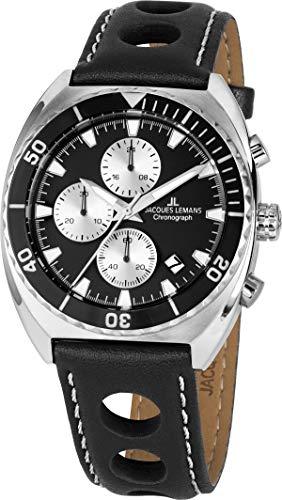 Jacques Lemans Reloj de Hombre Cuarzo Color Negro Caja de 1-2041A