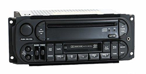 1 Factory Radio AM FM CS CD Player w Aux Upgrade Compatible With 2002-2007 Chrysler Dodge Jeep RBP P56038586AH