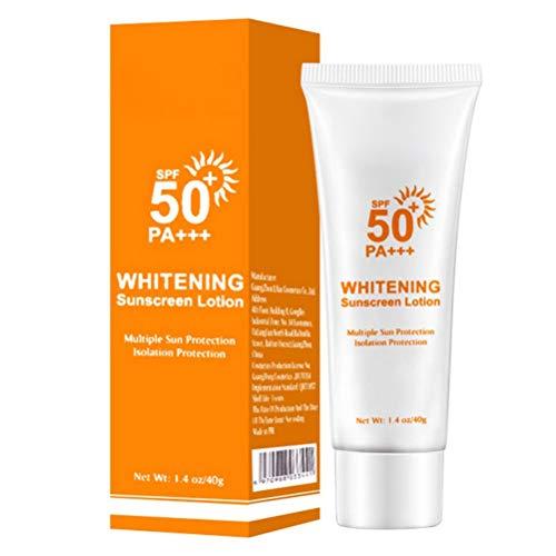 Kikier Crème solaire hydratante non grasse imperméable blanchissante sans huile SPF50