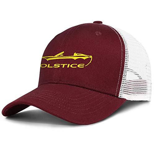 Xmbmkj Po-ntiac- So-lstice- Convertible Men Women Cool Mesh Baseball Cap Golf Hat Snapback Adjustable