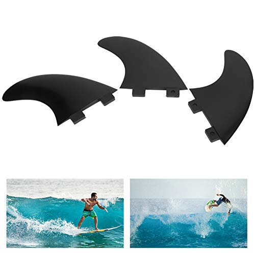 Chiwe Aleta de Tabla de Surf, Aleta de Cola de Tabla de Surf Diseño de 3 Aletas con 3 Aletas de Cola de Tabla de Surf para Surfista para Surf(Surfboard Rudder)