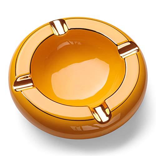 SHYPT Cenicero de cerámica de la Familia del cenicero del diseño de 4 surcos, cenicero al Aire Libre del cenicero portátil del hogar