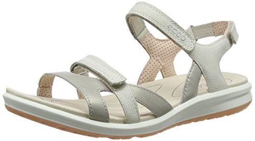 ECCO Damen CRUISE II Flat Sandal, Beige (SIVER GREY/GRAVEL/ROSE DUST), 37 EU