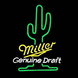 Miller Lite Genuine Draft Real Glass Beer Bar Pub Store Party Room Wall Window Display Neon Signs