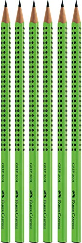 Faber-Castell 6er Sparpack Bleistifte GRIP 2001 (hellgrün B)