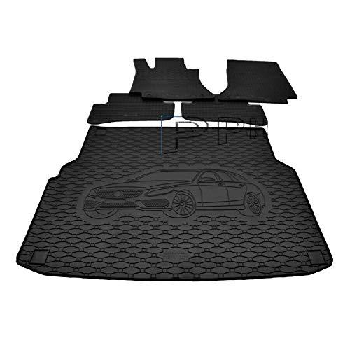 X & Z PPH – Juego de alfombrilla de goma para maletero para Mercedes-Benz Clase C (W205), modelo T Combi a partir de 2014, antideslizante