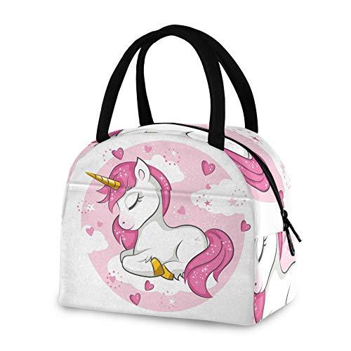RELEESSS - Bolsa térmica para el almuerzo, diseño de unicornio, reutilizable, para mujeres, hombres, niñas y niños