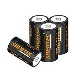 4 PCS Shentec Pilas Recargables D Batería 1.2V...