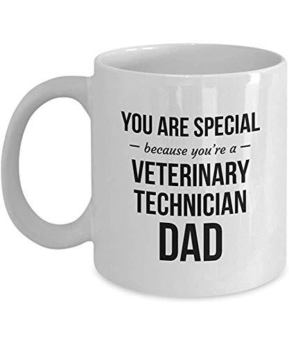 Mug Veterinary Technician Mug Keramik Benutzerdefinierte Anweisung Papa Inspiriert; Sie Sind Speziell, Weil Sie Ein Veterinärtechniker-Vati Reat Gif-Kaffeetasse-Kaffeetasse-Personalisiertes Gesch