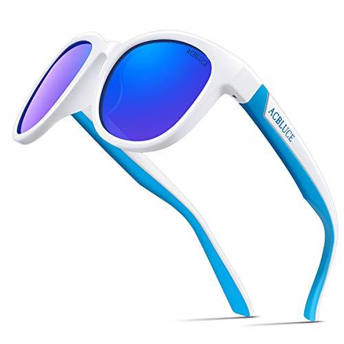 Kids Polarized Sunglasses for Boys Girls Children Wayfarer UV Protection Flexible with Strap Glasses