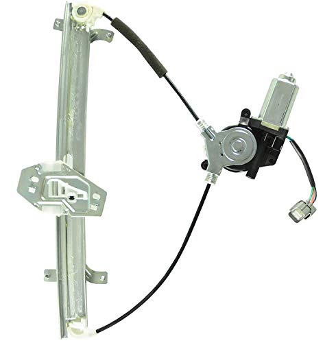 CUSTONEPARTS Front Driver Left Side Power Window Regulator W/Motor For 03-07 Accord Sedan