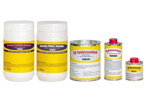 Tankdoc Tanksanierungs Box 5-teilig für 45+ Liter Tank Farbe lichtgrau (Box 45+ lichtgrau)