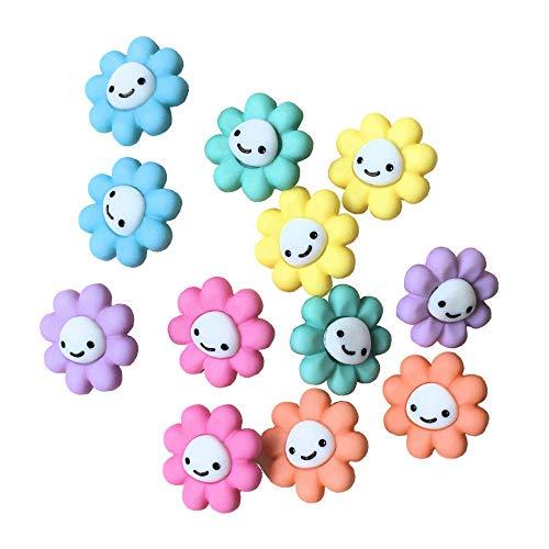 ボタン 手芸 ハッピー リトル フラワー スマイル 約12個 花 飾り[並行輸入品]
