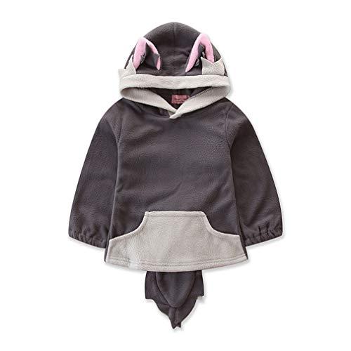 Juqilu Baby Sweatshirt Fuchs Hoodie Langarmshirt Pullover Top Herbst und Winter Kleidung Sweatshirt Outwear für Baby Mädchen Jungen 70cm-100cm