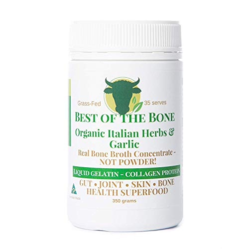 Premium Beef Bone Broth Concentrate Italian Herb Flavour - 100% Sourced from AU Grass-Fed, Pasture-Raised Cattle - Healthier Skin & Nails, Healthy Digestion - Bone Broth Collagen