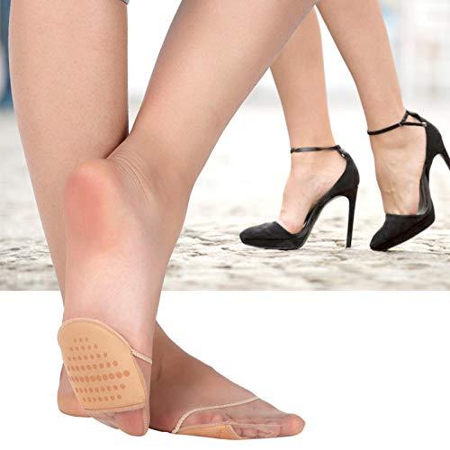 Omabeta 1 par de Almohadillas Ocultas para el antepié con Esponja para Absorber el Sudor, Almohadillas metatarsales portátiles para el Cuidado de los pies de Las Mujeres(Color)
