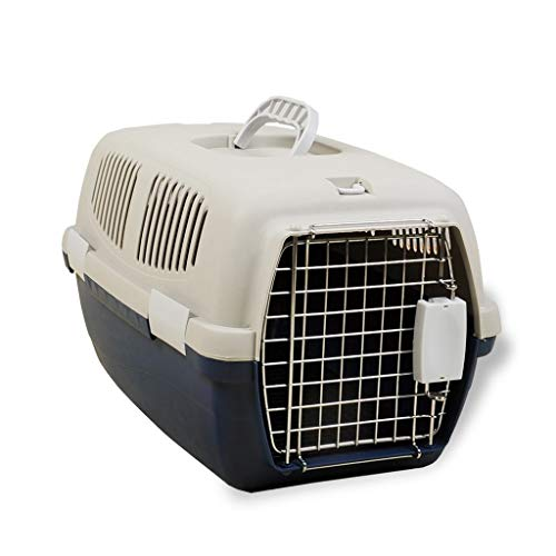 Pet Air Box Transportbox Draagbare koffer hondenframe voor het vervoer van levende dieren hond Middelgrote grootte uit het vliegtuig check-in bagage WSJF Medium wit