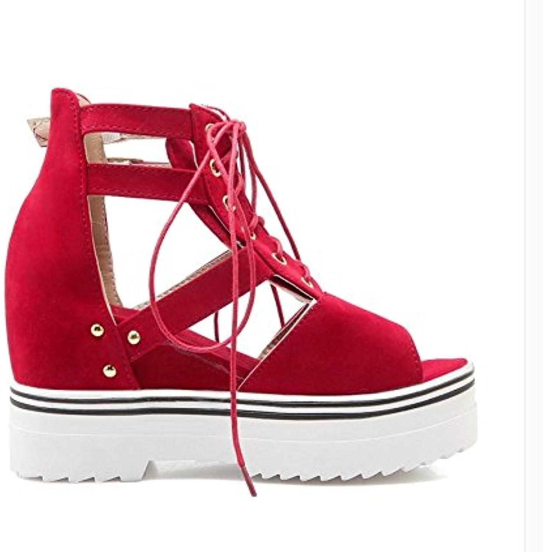 WHW Women's Club Synthetic Glitter Wedding Party Evening Dress Stiletto Heel Rhinestone Sandals,42,red