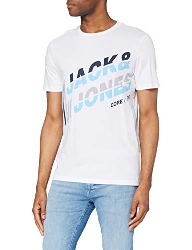 Jack & Jones JCOALPHA tee SS FST Camiseta, Color Blanco, XXL para Hombre