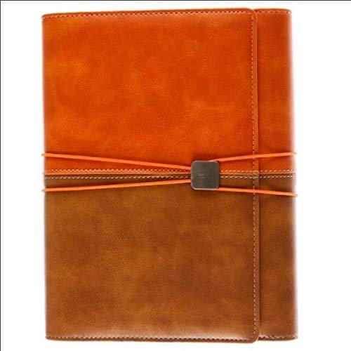 ZRJ Pequeño Cuaderno A5 Cuaderno de Hojas Sueltas Cuaderno Multifuncional Diario de Cuerda Atada Cuaderno de Office Business 80 Hojas Regalos (Color : Brown, tamaño : 18 * 23.5cm)