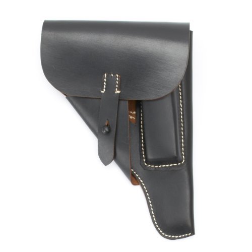 German WWII P-38 Softshell Black Leather Holster P38
