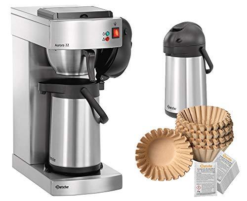 Kaffeemaschine Aurora 22 + 1000 Filter + 2. Pumpkanne + Entkalker