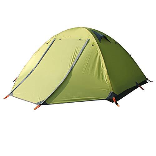 BaiYouDa Backpacking Tent,2 Person Ultralight Tent,4 Season Waterproof Tent,Anti-Lower Temperature,Footprint High