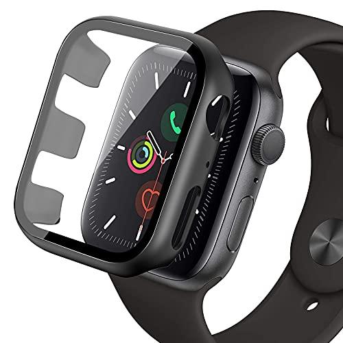 omitium 42mm Case Compatibile con Apple Watch Series 3/2/1, Custodia Rigida iWatch 42mm Copertura Completa, HD Clear, Anti-Graffio, Apple Watch 42mm PC Cover con Vetro Temperato