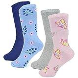 RJM 4 Paar Damen Kaschmir-Mischung Socken