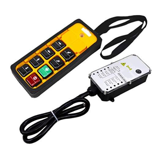 Grue industrielle Télécommande sans fil YU-6A Télécommande 220V Palan électrique poignée simple 3-Proof pour l'industrie jaune