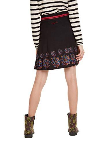 Desigual Skirt Louise Falda, Negro (Negro 2000), XL para Mujer