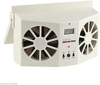 Car Solar Cooling Fan - (White or Black)
