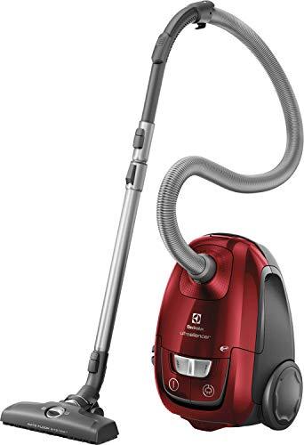 Electrolux EUSC66-CR - Aspiradora con Bolsa, Potencia máx. 600 W, Sistema de aspiración AeroPro, 2 cepillos, Accesorio 3 en 1, Rojo