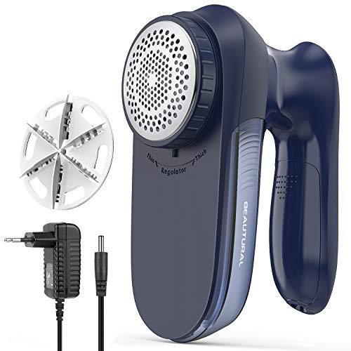 Beautural Quitapelusas Electrico de Ropa, Removedor de Pelusas Potente y eficiente, con AC Plug Cable o con Pilas, Especial y coveniente Version para su Familia
