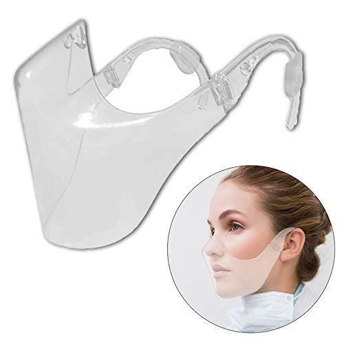 Clear Face_Mask Visor Los escudos transparentes antiniebla combinan el revestimiento facial reutilizable de plástico para adultos, hombres y mujeres