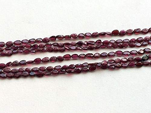 Kralen Edelsteen 1 Strand Natuurlijke Granaat Kralen, Natuurlijke Granaat Gezicht Peer Kralen, Rechte Boor Granaat Ketting, 5.5-6mm 8 Inch Lange Code-HIGH-17975