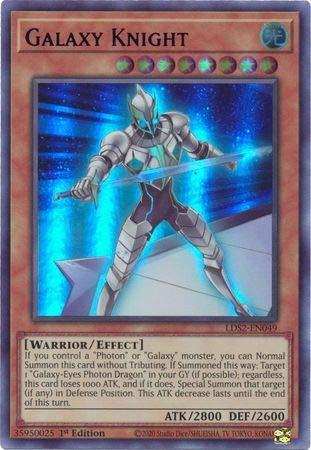 Galaxy Knight (Blue) - LDS2-EN049 - Ultra Rare - 1st Edition